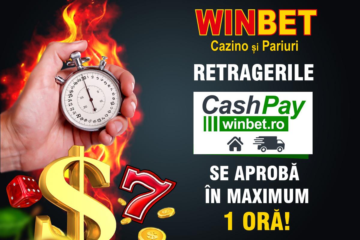 Retragerile castigurilor sunt aprobate in maximum 1 ora prin CashPay