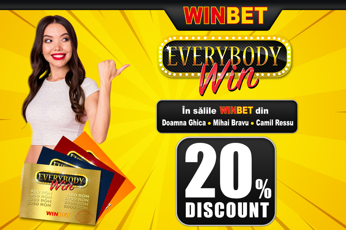 20% Discount la Everybody Win