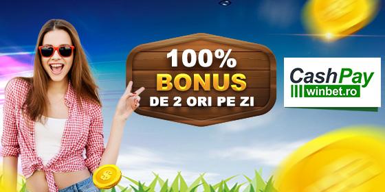 CashPay 2 x BONUS Zilnic 100%