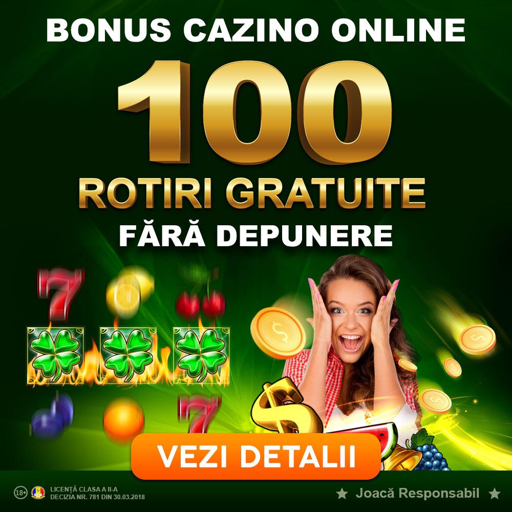 Bonus 100 Rotiri Gratuite