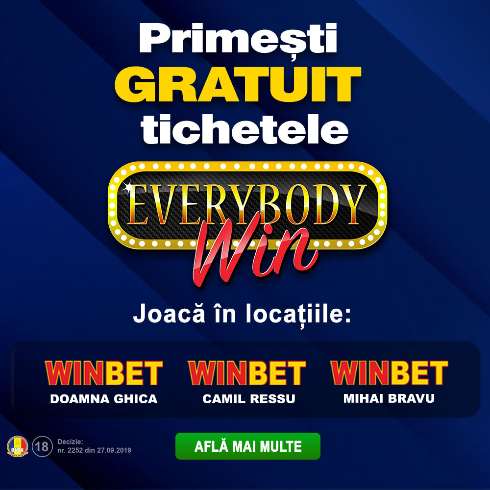 PROMOTIE EVERYBODY WIN 3 SALI